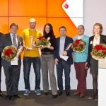 Parkplatz App ampido gewinnt Vodafone Smart Solutions Award mit Philip Lacor Dr Axel Schulz