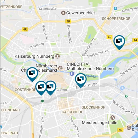 Parkplätze in Nürnberg